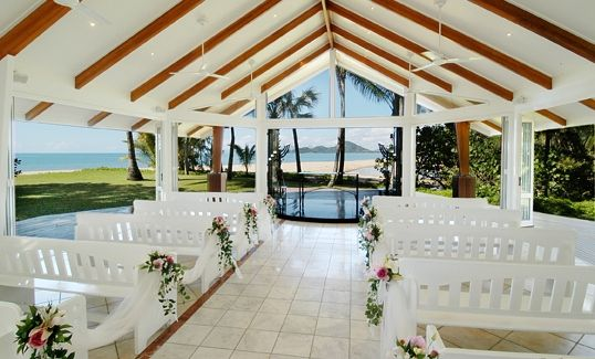 Summer #wedding #ceremony at South Pacific Bridal