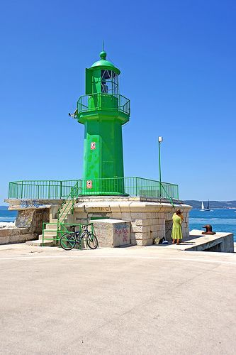 Croatia Split Breakwater #Lighthouse - Located at the end of the breakwater protecting the main harbor of Split in #Croatia