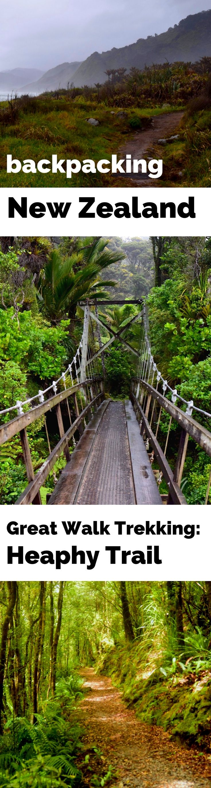 Backpacking New Zealand's Heaphy Track – one of New Zealand's famous Great Walks along the coast.