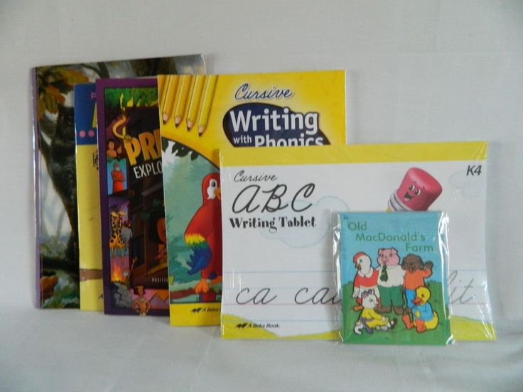 ABeka K4 Little Owl  & Writing w. Phonics Cursive, Preschool Bible, Poetry  #TextbookBundleKit