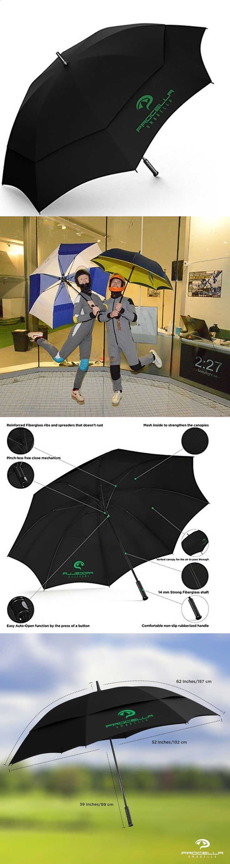 Golf Umbrellas 18933: Golf Umbrella By Procella Umbrella 62 Inch Large Auto Open Rain And Wind Resist... -> BUY IT NOW ONLY: $39.93 on eBay!