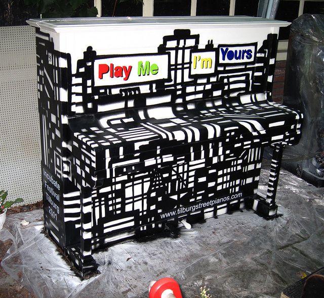 Painted piano in Tilburg by Joep van Gassel