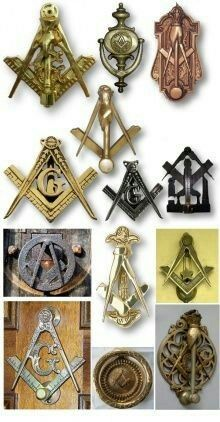Freemason Lodge door knocker.