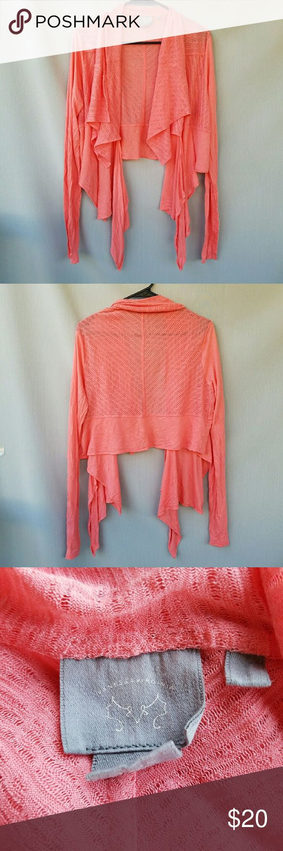 ANTHROPOLOGIE: Vanessa Virginia Coral Cardigan Excellent condition  Feel free to ask me any additional questions! Bundles 3+ 15% off. Happy Poshing! No trades, or modeling. Anthropologie Sweaters Cardigans