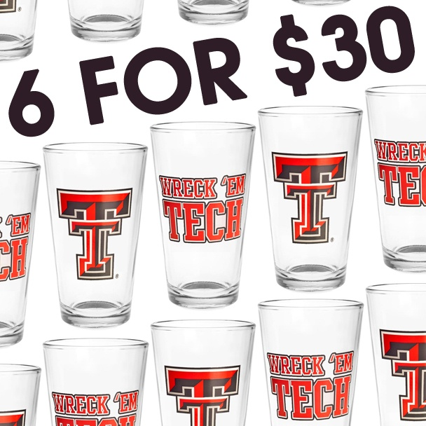 Check out this great Texas Tech glasswear! Mix and match your favorites! http://www.rallyhouse.com/ncaa-texas-tech-red-raiders-drinkware-kitchen-glassware/browse/collection/mix-and-match-glasses