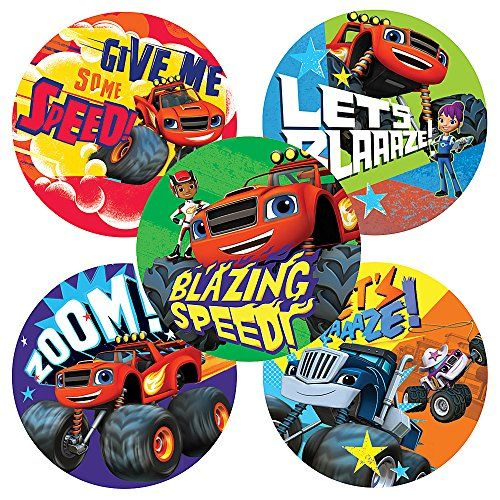 Blaze and the Monster Machines Stickers - Birthday and Theme Party Favors - 75 per Pack SmileMakers http://www.amazon.com/dp/B00R56WI2K/ref=cm_sw_r_pi_dp_fwIavb03BF3N5