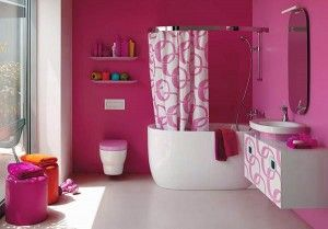 Quiero un baño así, solo menos rosa!!!
