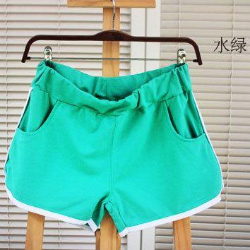 Женские повседневные брюки летние шорты хлопок бег шорты три большие дворы фитнес йога брюки Корея - Taobao