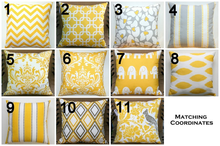 HAPPY SALE Premier Prints Yellow Pillow Cover by Modernality2, $12.95