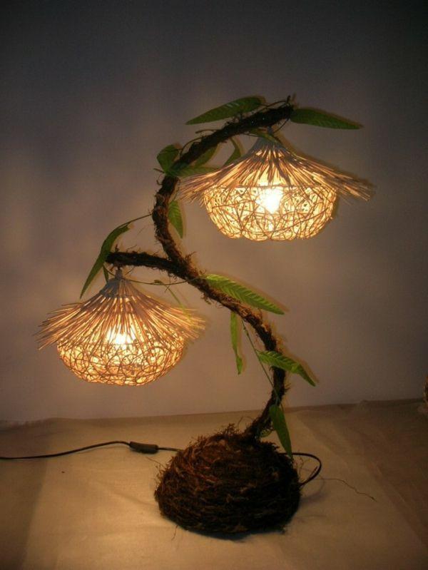 ein leuchtender baum- lampen selbst gestaltet