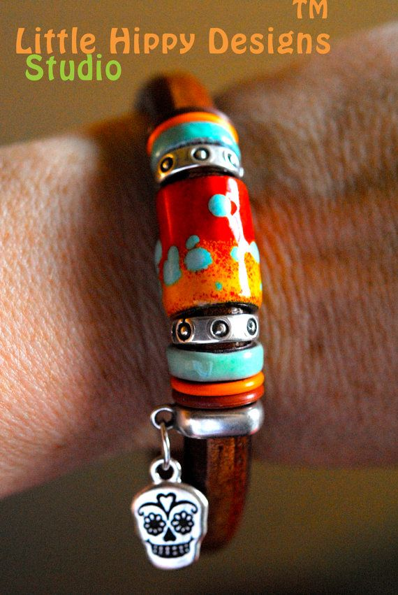 Regaliz Bracelet Whiskey Brown Licorice by LittleHippyDesigns, $50.00
