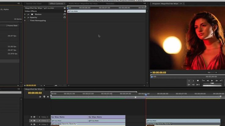 Premiere Pro includes a variety of audio and video effects that you can apply to clips in your video program. An effect can add a special visual or audio characteristic or provide an unusual feature attribute. For example, an effect can alter the exposure or color of footage, manipulate sound, distort images, or add artistic effects.