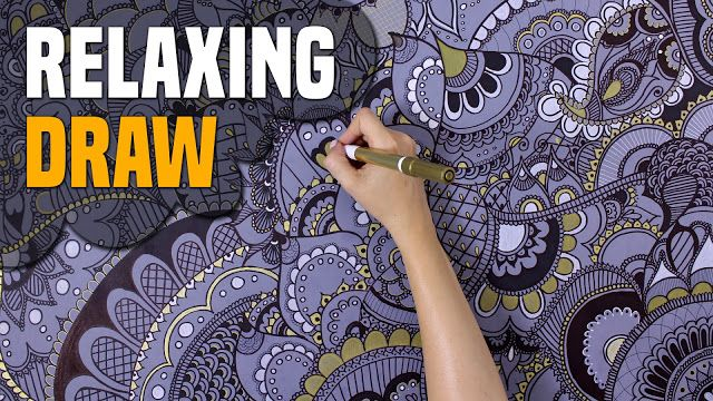 Relaxing drawing - speed drawing - mandala - henna rajzolás