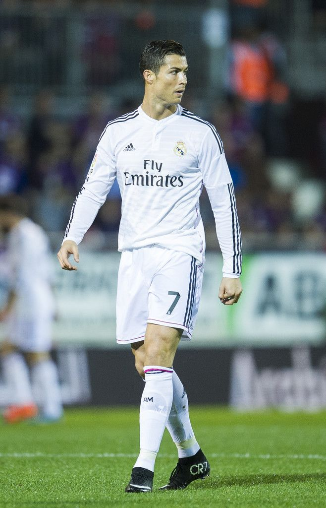 Cristiano Ronaldo of Real Madrid reacts during the La Liga match between SD Eibar and Real Madrid CF at Ipurua Municipal Stadium on November 22, 2014 in Eibar, Spain.