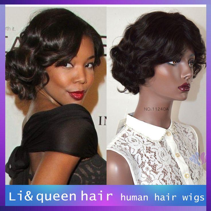Горячая распродажа 100% девственницы бразильские вьющиеся короткие волосы ни парик Glueless бразильского вьющиеся ни парик человеческих волос