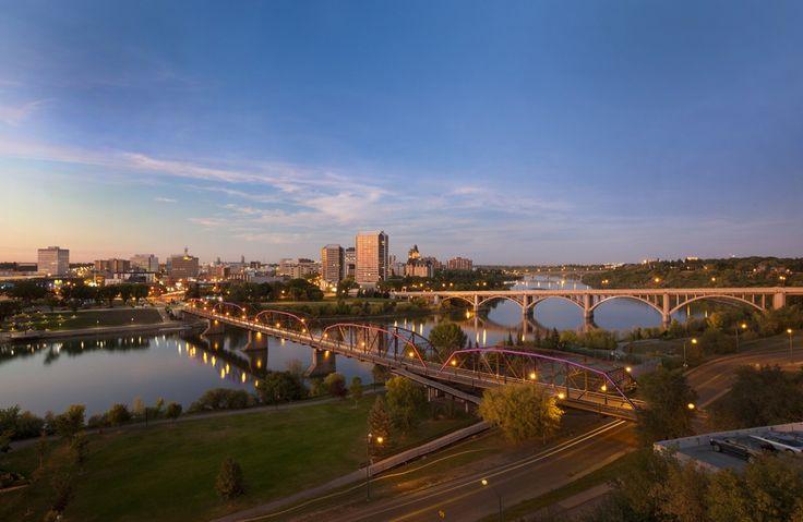 South Saskatchewan River and Downtown Saskatoon, Saskatchewan, Canada (Photo courtesy of Tourism Saskatoon)