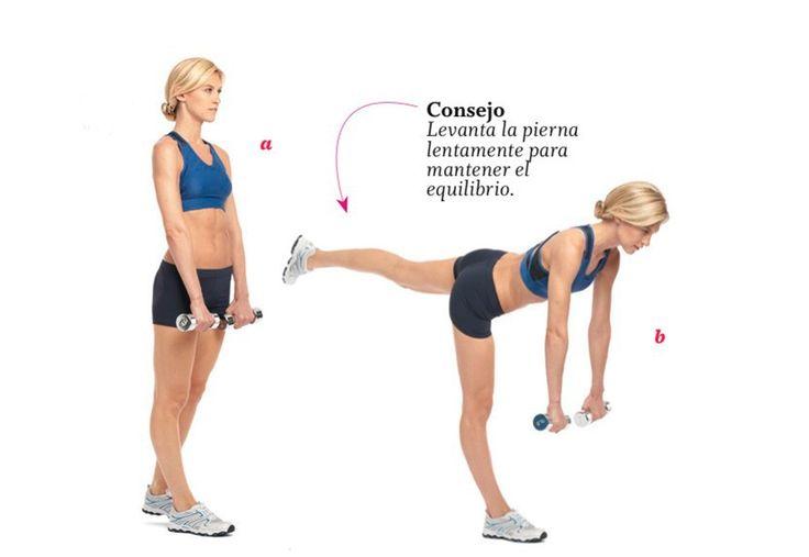 Día 8: Levantamiento de peso muerto con piernas alternas