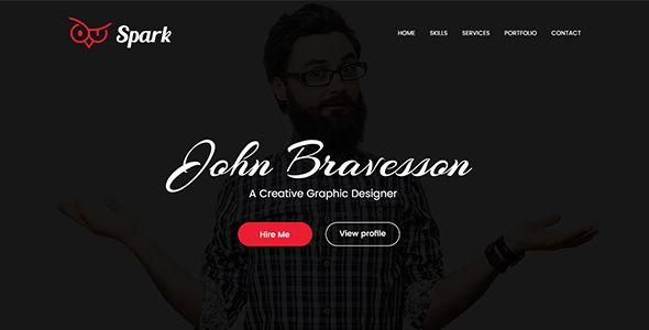 Spark Landing Page Portfolio Template PSD Templates / Creative / Portfolio by wowsketch