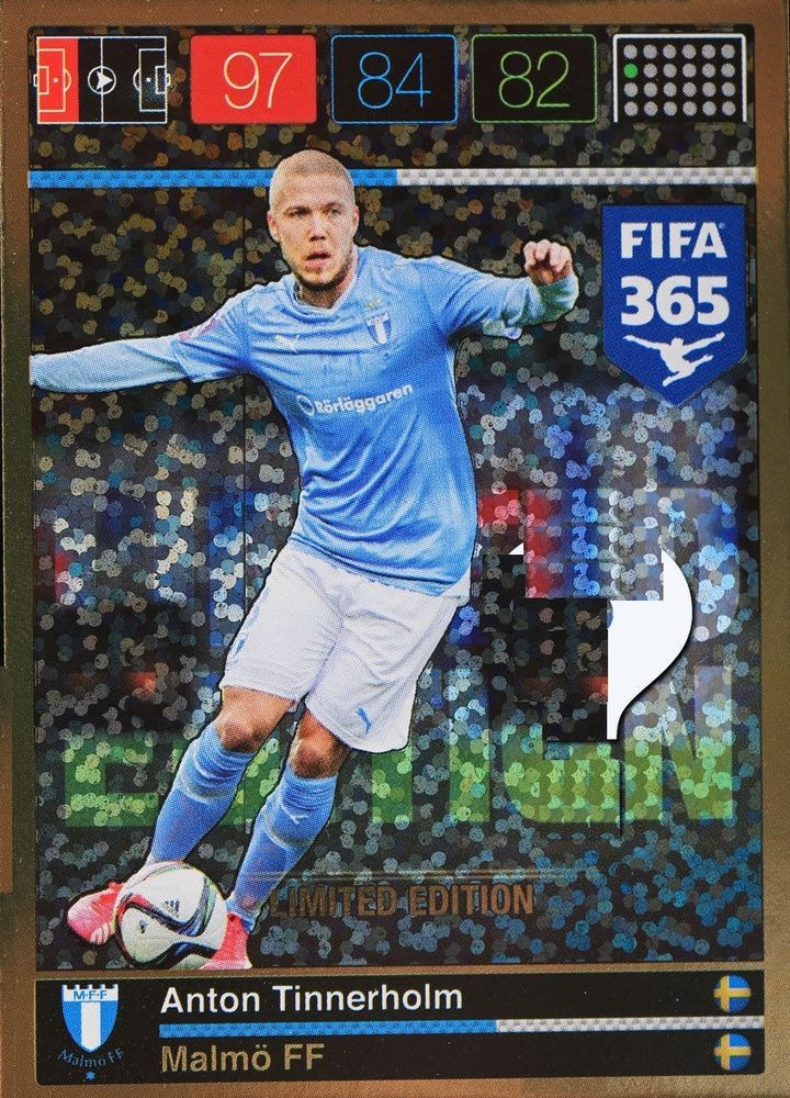 tinnerholm limited edition panini adrenalyn xl fifa 365 from $0.99