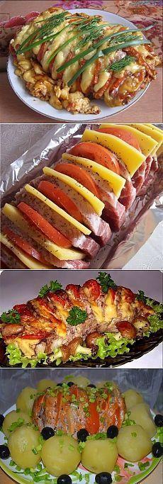 ВЕЕР - СВИНИНА ИТАЛЬЯНО !!! **Мясо 600г - сделай надрезы не до конца, и смажь смесью: раст/масло 3ст/л, суш/зелень, кориандр, соль, перец. *В разрезы: по колечку помидора, лука или сыра, соль. *На фольгу: чеснок 5зуб-дольки, мясо, и плотно заверни в 2-3слоя. *В духовку на 1час, при 200. Затем открой, и оставь еще на 15мин. *На гарнир: отварной картофель.