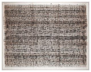 Layered Sheet Music Cacophony Wall Art - Framed - Eclectic - Prints And Posters - by Kathy Kuo Home
