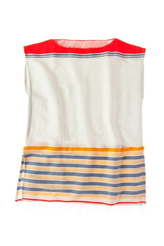 lemlem- colourful striped top, boat cut