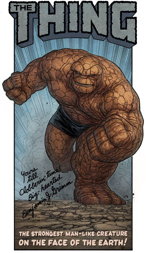 The Thing/La cosa - Fantastics four/Cuatro fantasticos - Marvel