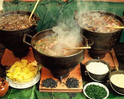 Brazilian Food: feijoada (black beans main dish).
