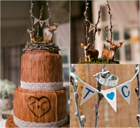 chic wedding cake toppers | … Barn Wedding With Country Wedding Decorations – Rustic Wedding Chic