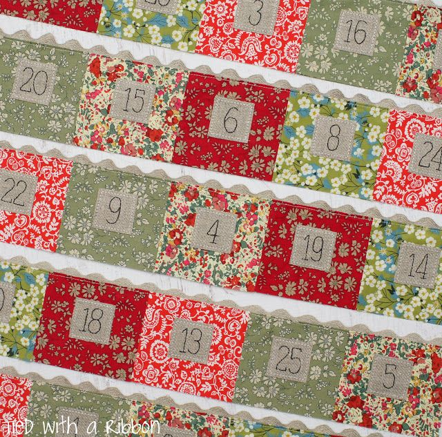 Tied with a Ribbon: Alice Caroline Fabrics and a Christmas Cheer Advent Calendar