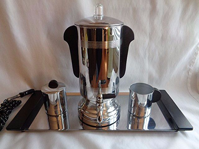 MANNING & BOWMAN ART DECO COFFEE PERCOLATOR SET-TESTED-WORKS