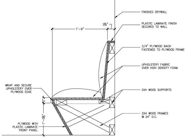 Banquette Seating Plan Section