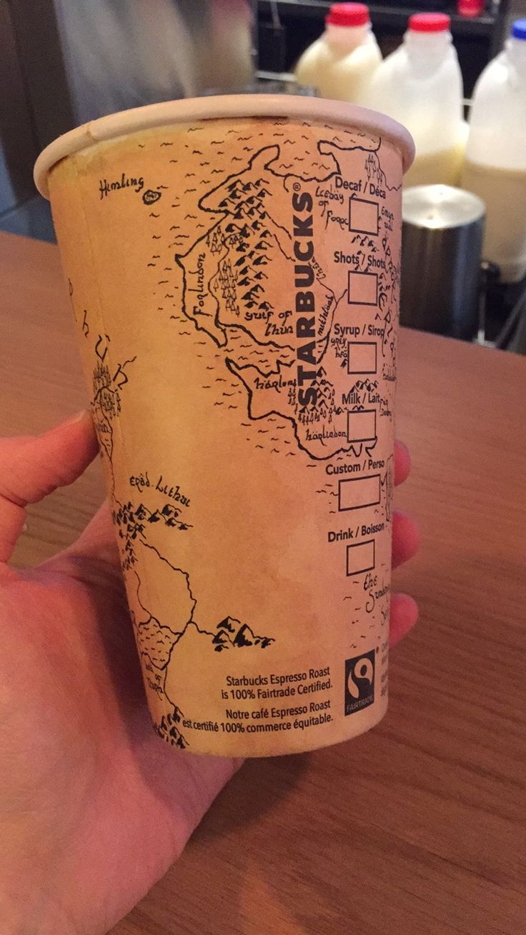 East Middle Earth Map%0A Starbucks Customer Draws a Detailed Map of MiddleEarth From  u    The Lord of  the Rings u      u      u    The Hobbit u     on a Coffee Cup