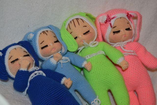 Зайки-Сонюшки по описанию Галины Прасинудис - Пока спят дети... - Галерея - Форум почитателей амигуруми (вязаной игрушки)