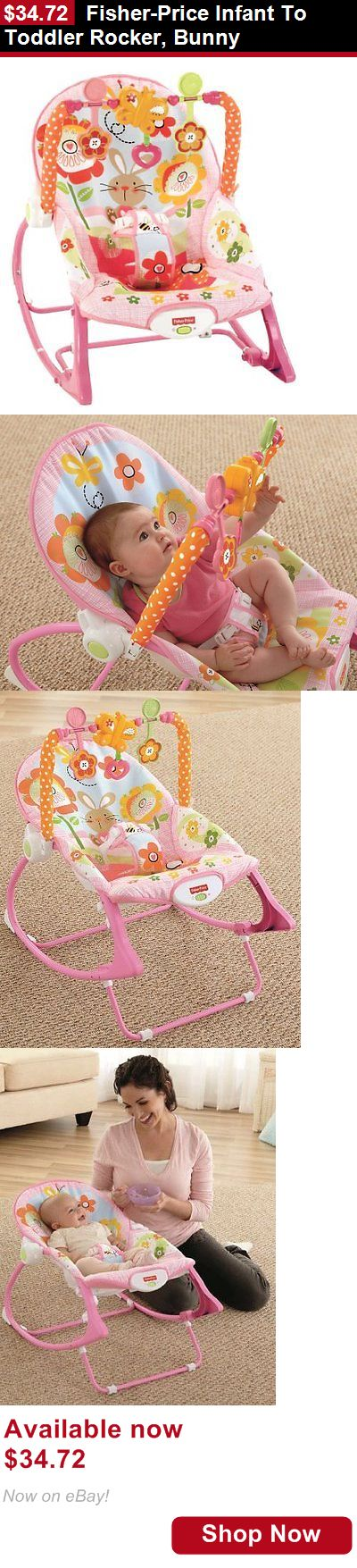 Baby bouncers and vibrating chairs: Fisher-Price Infant To Toddler Rocker, Bunny BUY IT NOW ONLY: $34.72