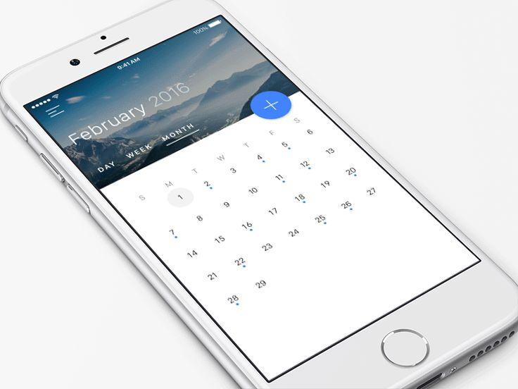 Calendar View  Material Design #FREEBIE by Jardson Almeida