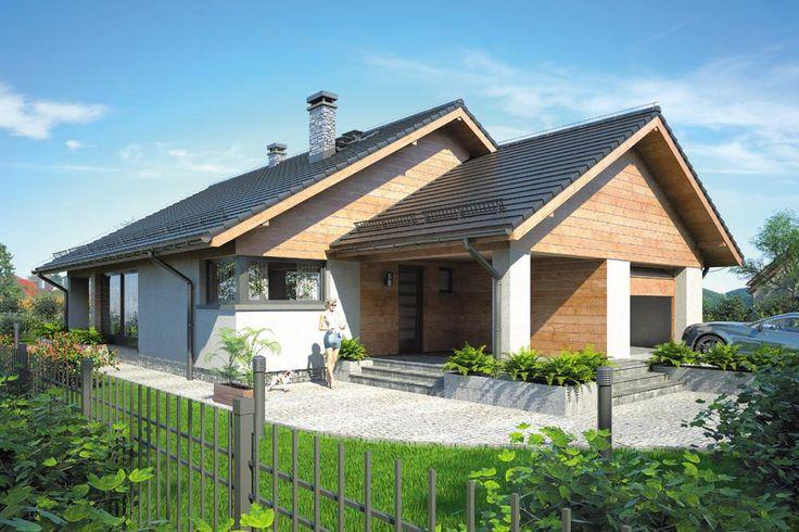 Projekt domu Mój dom Bursztyn - DOM BM9-83 - gotowy projekt domu