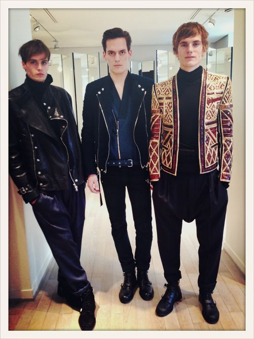 Présentation Balmain homme collection automne-hiver 2013-14  //  The Balmain boys at the Fall/Winter 2013-2014 presentation.