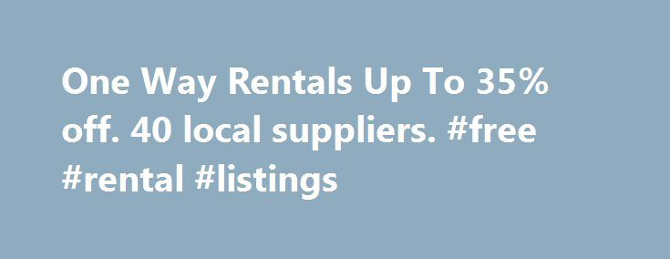 One Way Rentals Up To 35% off. 40 local suppliers. #free #rental #listings http://rentals.remmont.com/one-way-rentals-up-to-35-off-40-local-suppliers-free-rental-listings/  #one way car rental specials # Getabout OZ is able to offer One-Way Rentals Australia Wide – upon application – between all major capital cities, including the Northern Territory, Western Australia and within Tasmania. Campervan Hire From $1 A Day. Enter Your Details To Compare Getabout OZ offers a centralised booking…