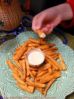 Roasted Cajun Sweet Potato Fries. MARDI GRAS FOOD- For tips and ideas like this one visit our website at www.thepartybelle.net