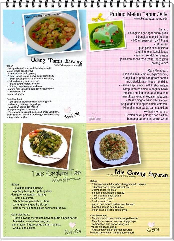 Udang tumis bawang, melon jelly, tumis kangkung tahu, mie goreng sayuran
