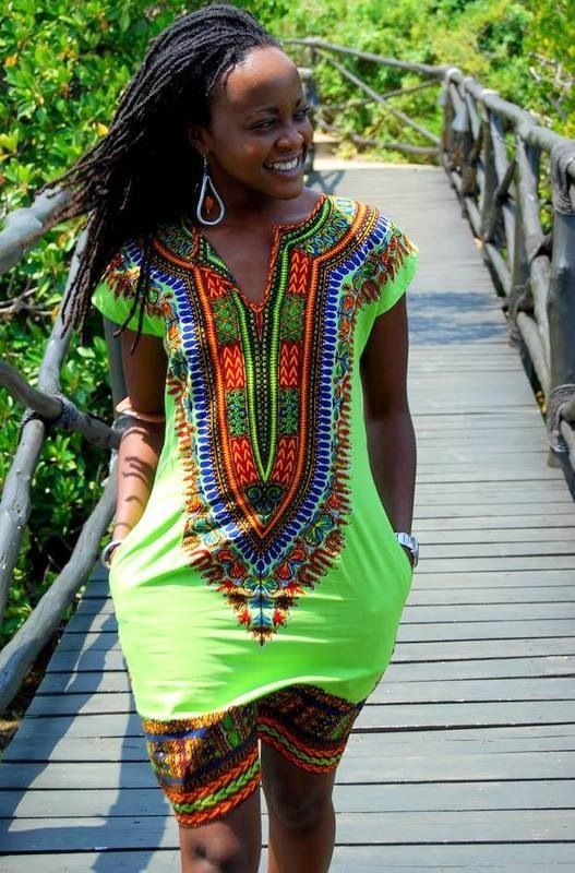 style african dress and makeup