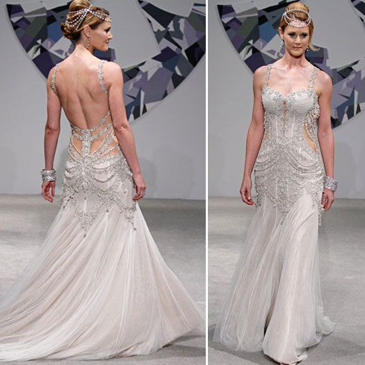 pnina tornai gown   Without a doubt Pnina Tornai is the reigning queen of bridal bling ...