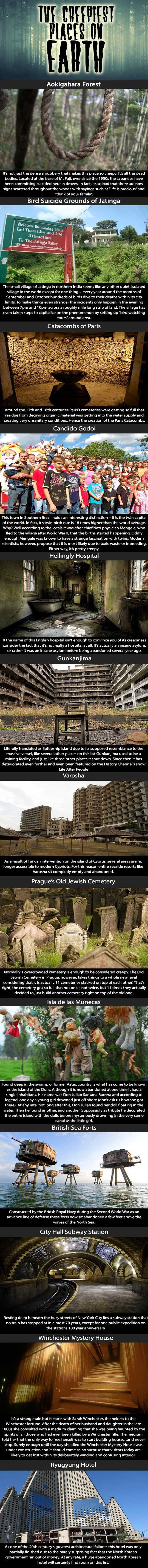 The creepiest places on earth.