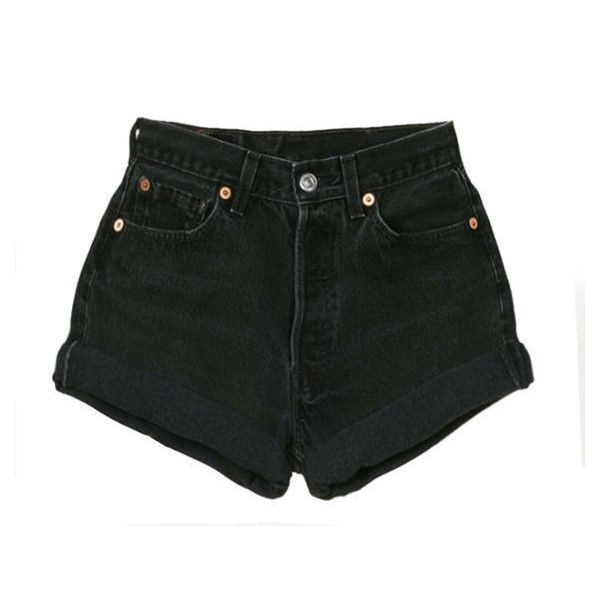 the Black High Waisted shorts (30.985 CLP) ❤ liked on Polyvore featuring shorts, bottoms, pants, short, black short shorts, black cuffed shorts, highwaist shorts, highwaisted shorts and high rise shorts