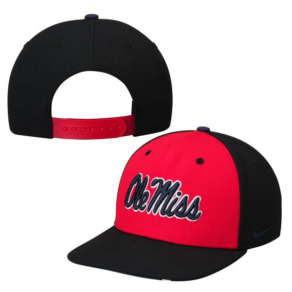 Ole Miss Rebels Nike Pro Verbiage Snapback Adjustable Hat - Navy - $22.99