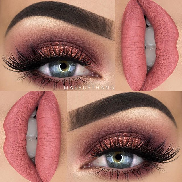 "I just love cranberry/pink/rosegold shades! The @gerardcosmetics Hydra Matte liquid lipstick in ""Serenity"" is a favorite combined with the Huda Beauty Rose Gold Edition palette  (this is a collaboration with #gerardcosmetics) --- BROWS: @anastasiabeverlyhills @norvina Dipbrow Pomade ""Granite"" ✖️ --- EYES: @hudabeauty @shophudabeauty Rose Gold Edition Palette ""Shy"", ""Flamingo"", ""Bossy"", ""Suede"", ""Rose Gold"" and ""Moon Dust"" ✖️ @wakeupandmakeup @eyerisbeauty ""Athena"" lashes ✖️…"