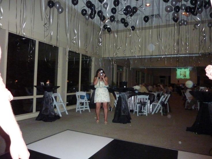 Dance floor and balloons