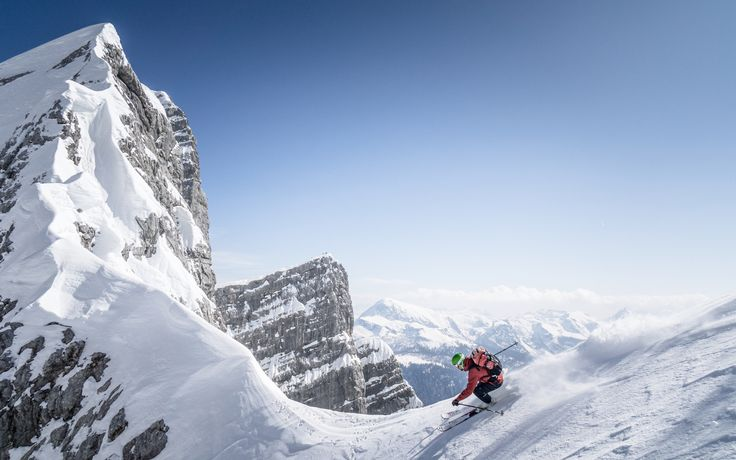 High Alpine Freeride Skiing by Christoph Oberschneider on 500px