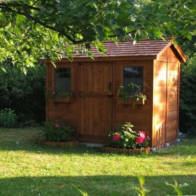 Outdoor Living Today Cabana 6 Ft. X 9 Ft. Western Red Cedar Garden Shed